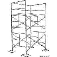 China Q235 Walk Through Falsework Frame Scaffolding / Aluminium Scaffold For Powder Coating , Painting on sale