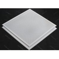 T 15 Matched 595x595mm Aluminum or Steel  Lay in Ceiling Tiles Perforated or Plain White Manufactures