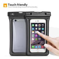 Fully Submersible Waterproof Smartphone Case , Small Waterproof Bag With Air - Filled Frame Manufactures