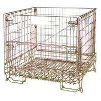 China Warehouse stackable metal wire mesh container in wine industry on sale