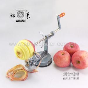 China 3 in 1 Multi-function aluminum alloy peeler, apple peeler & slicer & corer suction base on sale
