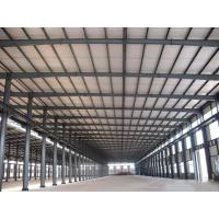 Prefabricated Steel Structure Warehouse / Large Span Metal Building Frame Construction Manufactures