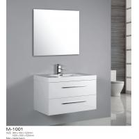 Wall Mounted MDF Bathroom Vanity With Drawers Two Push Pull Man Mad Basin Manufactures