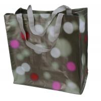 Waterpaint Dots PP Woven Reusable Carrier Bags Big Capacity , Nylon Tape Handle Manufactures