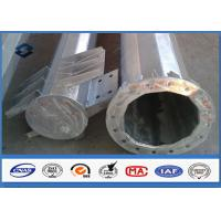 China 110kv Galvanized Electrical Steel Tubular Pole Self Supporting With Electric Accessories on sale