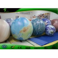 PVC Inflatable Advertising Balloons 2 meter / giant inflatable planet balloon for sale