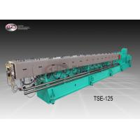 Big Size Co Rotating Twin Screw Extruder For Plastic Pelleting Robust Frame Design Manufactures