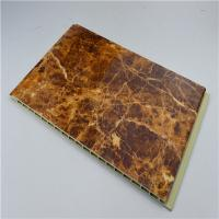 China Marble Designs WPC Wall Panel Wood / Vinyl Material For House / Hotel Wall Decoration on sale