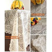 100% cotton beige 1.5gg crotch cutout handmade crochet table cloth 110 160 Manufactures