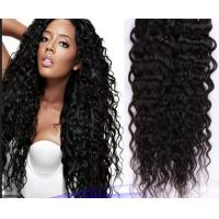 China Double Knots Soft Real Brazilian Curly Human Hair Extensions Weft For Dream Girl on sale