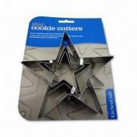 3-piece Star-shaped Cookie Cutters, Made of 430# Stainless Steel, Available from 5 to 11cm Sizes Manufactures
