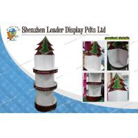Point Of Sale Cardboard Hook Display Stands For Christmas Socks Manufactures