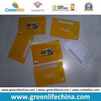 Plastic PVC Luggage Tag in Custom Yellow Color W/Printing Manufactures