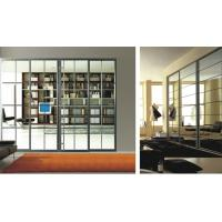Luxury Living Room Divider With Glass, Modern Aluminum Profile For Heavy Duty Sliding Door Manufactures