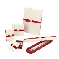 Luxury Packing Fancy Jewelry Box With Bowknot Customized PU Leather