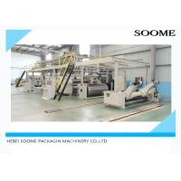 Pneumatic Control 3 Ply Corrugated Box Making Machine With Three Section Belt Manufactures