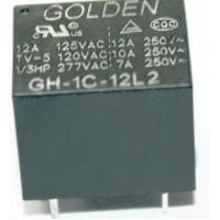 GH 12A 12V Household Appliance Relay , Golden High Power Relay Manufactures