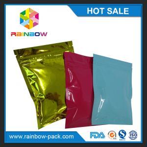 Custom printed foil laminated mini ziplock mylar bag for medicine pills tamper evident zip lock plastic bags Manufactures
