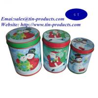 Gift Set of 3 Round Tin Metal Box with Slip Cover, Gift Tin Box Set for Christmas Manufactures