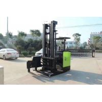 Powered Reach Lift Forklift / Counterbalance Reach Truck Pu Solid Tire Custom Color Manufactures
