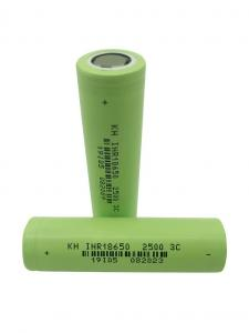 High Power 3.7 V 2500mAh 18650 Lithium Ion Battery Manufactures
