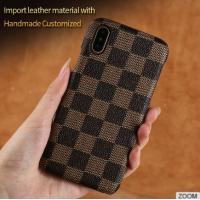 iPhone 8 PU Leather Classic Grid Cell Phone Covers cases Multi Color Manufactures