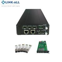 China UC6100-S2 Gigabit Ethernet Fiber Media Converter with 1 slot NMC card and 1 slot line card on sale