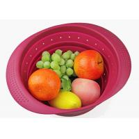 Kitchen Auxiliary Silicone Drain Basket Home Accessories  Green Large Vegetable Filter Manufactures