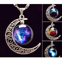 art picture galaxy pendant necklace glass cabochon  chock necklace women necklace jewelry Manufactures