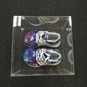 Custom Size Transparent Plexiglass Acrylic Shoe Box 3mm Thickness Manufactures