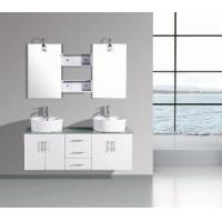 Double Sinks MDF Bathroom Cabinet (T9011A) Manufactures