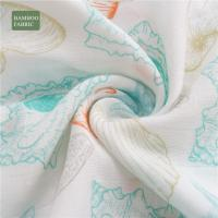 Breathable Spotted Bamboo Muslin Fabric Zero Formaldehyde Cute Pattern Plain Style Manufactures