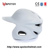 Adult Baseball Pitchers Helmet , White Pitching Helmet Baseball Manufactures