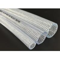 China Odorless PVC Transparent Hose , Fiber Braided Hose / Tubing ROHS Approved on sale