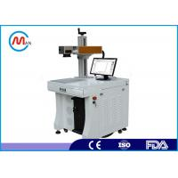 High precision !10w 20w 30w 50w fiber laser marking machine for metal , Engineering plastic Manufactures