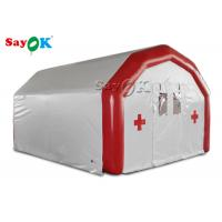 China Large Airtight Mobile Hospital Inflatable Medical Tent To Set Medical Beds on sale