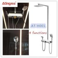 AT-H001 thermostat controlled shower valves metal body stainless steel colour top shower 380x160mm big platform Manufactures