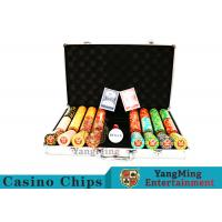 Texas Poker Chip Set / 11.5g Clay Casino Chip With Aluminum Case Manufactures