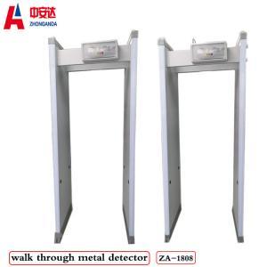 Adjustable Sensitivity Walk Through Metal Detector , 33 Zones Pass Through Metal Detector Manufactures