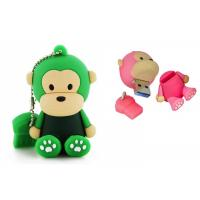 Cute Monkey PVC Custom USB Flash Drives Full Capacity Soft Rubber Memory Sticks Manufactures
