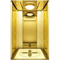 Modernization Automatic Passenger Elevator , Golden Mirror Etching Fuji Lift Manufactures