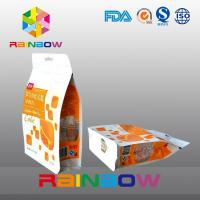Custom Printed Eight Side Sealed Snack Bag Packaging With Zipper And Window Manufactures