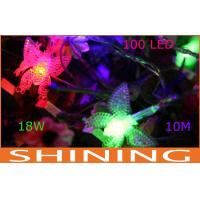 Waterproof LED String Lights Butterfly Shape , RGB Decoration Light Manufactures