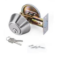 High Security SUS304 Single Cylinder Deadbolt Door Locks Plated Nickel Finish Manufactures