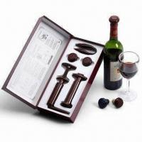 Wine Accessory, Includes Wine Stopper, Wine Opener, Vacuum Pump and Foil Cutter Manufactures