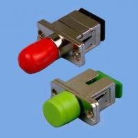 Fiber-optic Adapters with Hybrid, SC-ST/FC-ST/SC-FC/SC-LC, Low Insertion Loss and RoHS-certified Manufactures