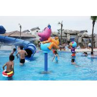 China Fiberglass Pump Water Spray Park Equipment Aqua Play Station For 3 - 5 Persons on sale