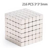 China Kellin Neodymium 216 pcs Magnetic Cube Magic Cubes Building Blocks Educational Toys Stress Relief Toy Games 3mm 4mm 5mm on sale