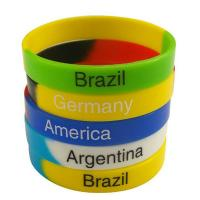 Colorful Fashion Personalized Silicone Bracelets Charming Durable Manufactures