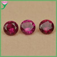 wholesale round cut 5# artificial synthetic corundum ruby stone prices Manufactures
